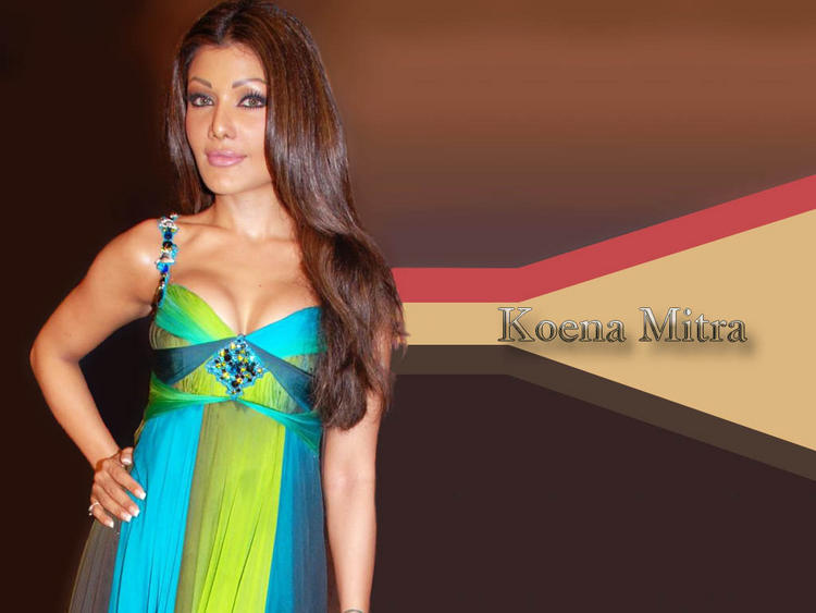 Koena Mitra Open Boob Sexy Wallpaper