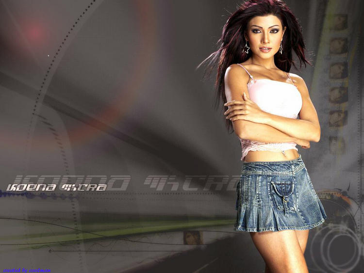 Koena Mitra Mini Skirt Hottest Wallpaper