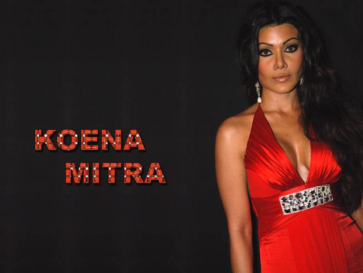 Koena Mitra Red Dress Glamour Wallpaper