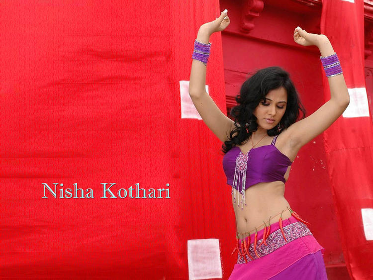 Nisha Kothari Hot Dressing Wallpaper