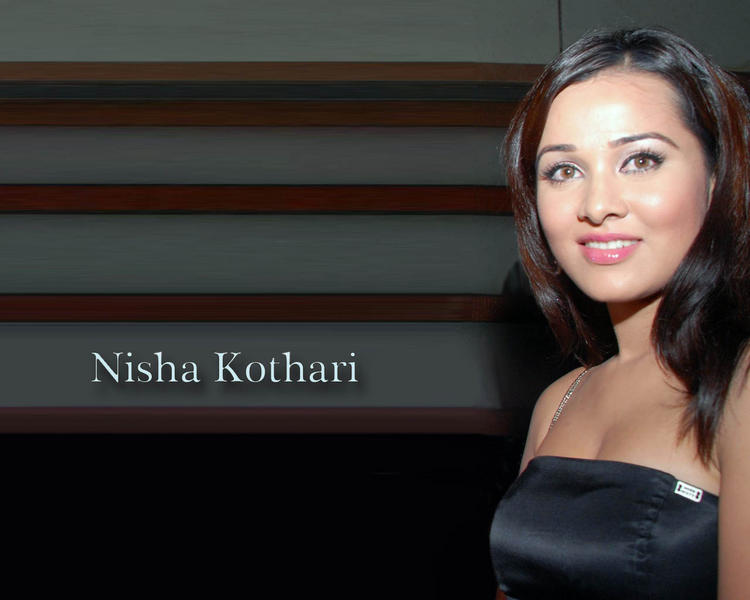 Nisha Kothari Sweet Smilling Face Wallpaper