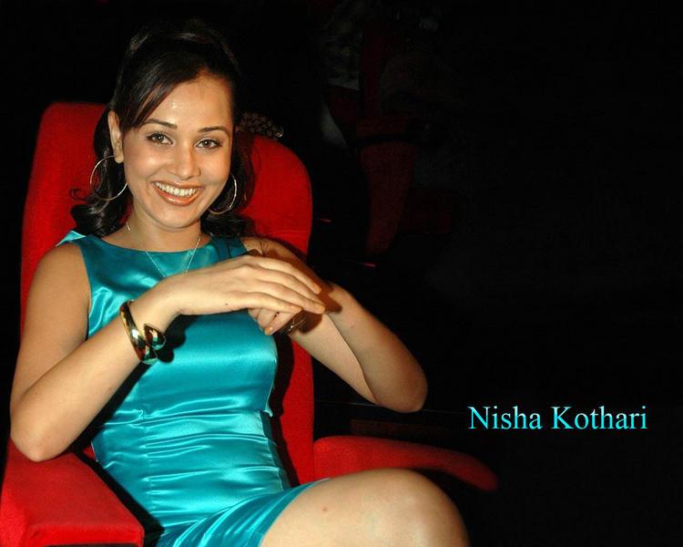 Nisha Kothari Smilling Face Wallpaper