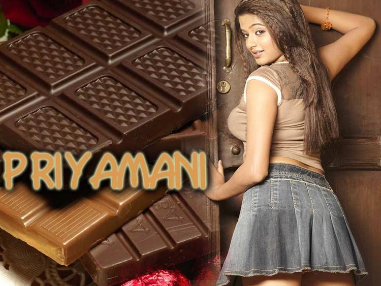 Hot Priyamani Mini Skirt Wallpaper
