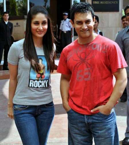 Kareena Kapoor and Aamir Khan Cute Still