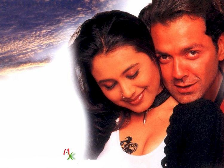 Rani and Bobby Deol in Bichchoo Wallpaper