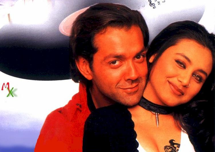 Rani and Bobby Deol in Bichchoo Glamour Wallpaper