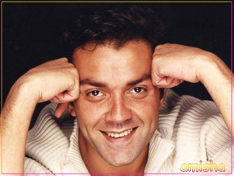 Bobby Deol Sexy Smile Wallpaper