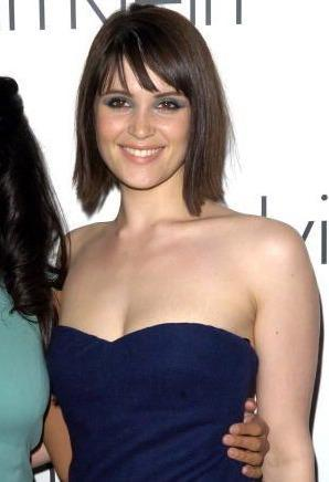 Gemma Arterton Blue Sleeveless Dress Still