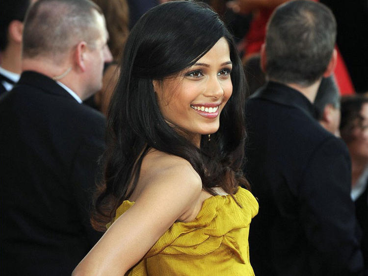 Freida Pinto Glorious Public Photo