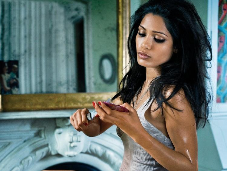 Freida Pinto Latest Glamour Still