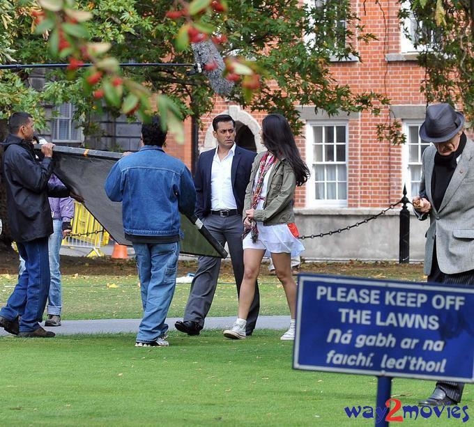 Salman Khan and Katrina Kaif On The Sets Of Ek Tha Tiger