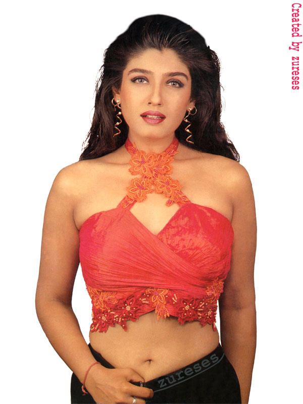 Raveena Tandon Sexy Romantic Look Wallpaper