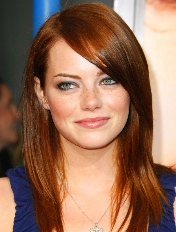 Emma Stone Glamour Face Look