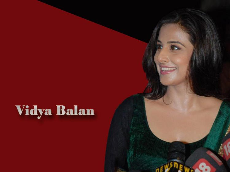 Vidya Balan Gorgeous Face Look Wallpaper