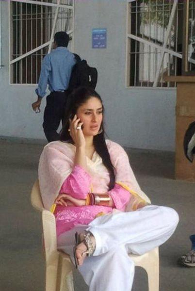Kareena Kapoor at shooting spot