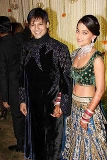 Vivek Oberoi and Priyanka Alva Wedding Reception Picture