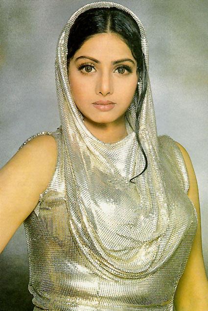 Sridevi in Silvery dress