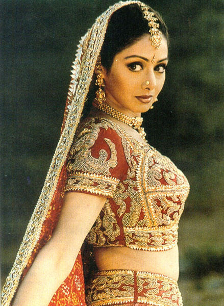 Sridevi with Ghaghara looking very beautiful