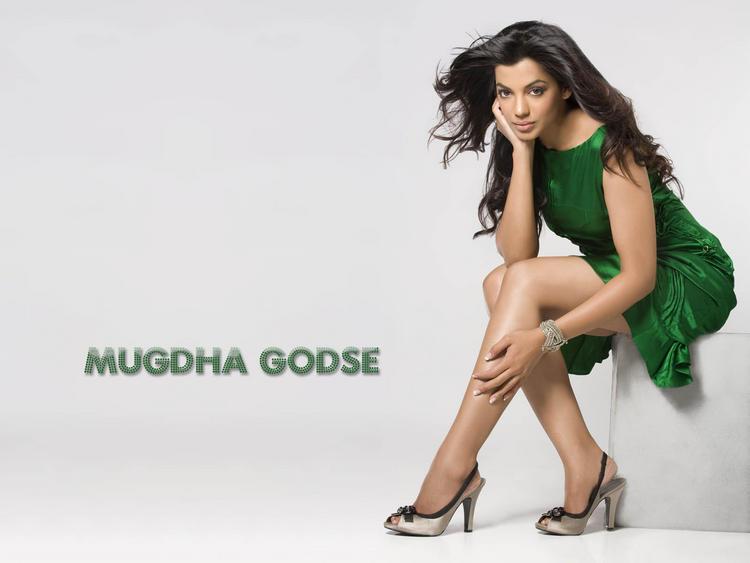 Mugdha Godse Green Dress Sizzling Still