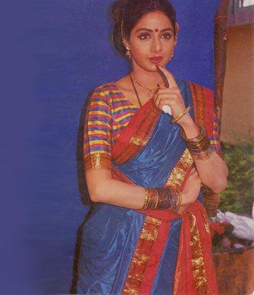 Sridevi in saree