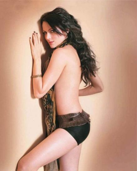 Yana Gupta Topless Dress Still For FHM