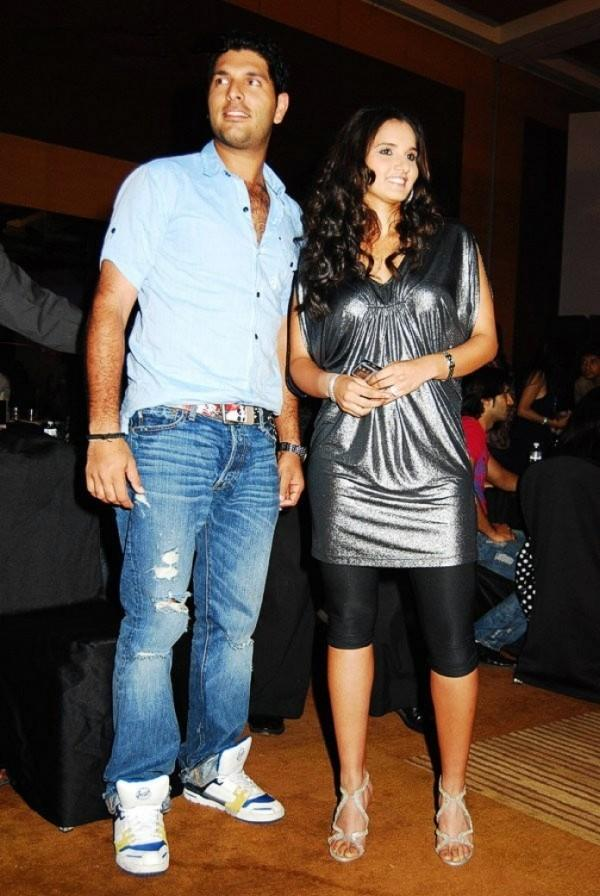 Sania Mirza With Yuvraj Glamour Still