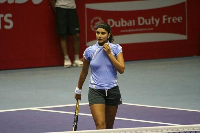 Sania Mirza On The Playground