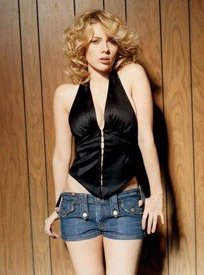 Scarlett Johansson Mini Dress Sexiest Photo
