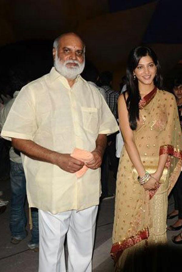 Telugu Actress Shruti Hassan Saree Nice Photo