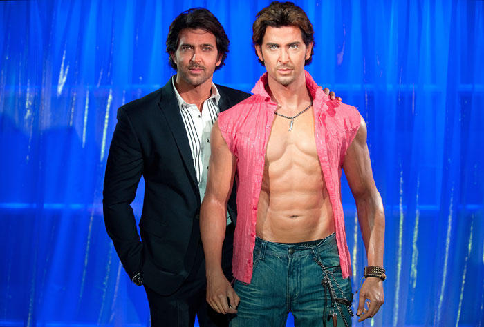 Hrithik Roshan With Statue Madame Photo Shoot