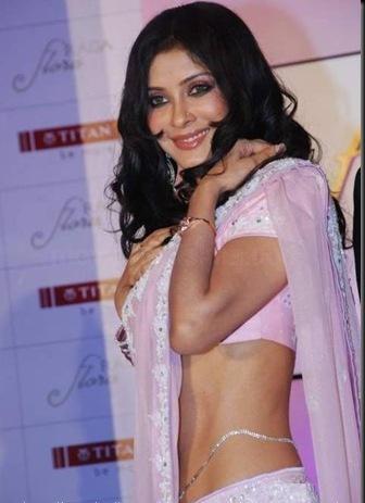 Bengali actress Nandana Sen in Sexy Pink Saree