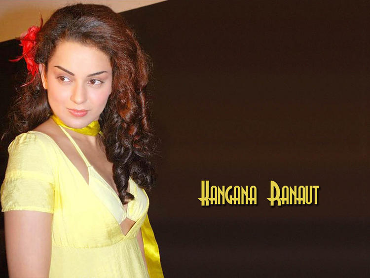 Kangana Ranaut in yellow dress