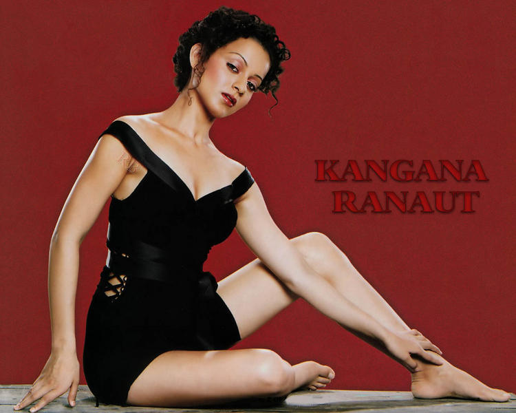 Kangana Ranaut black hot wallpaper