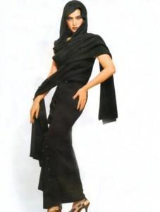 Rekha with amazing dress