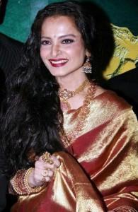 Rekha looking beautiful in saree