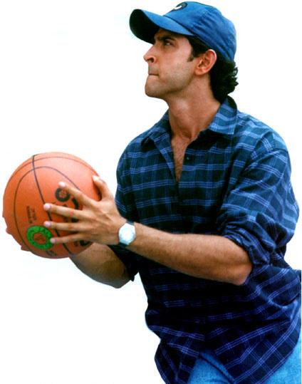 Hrithik Roshan with basket ball