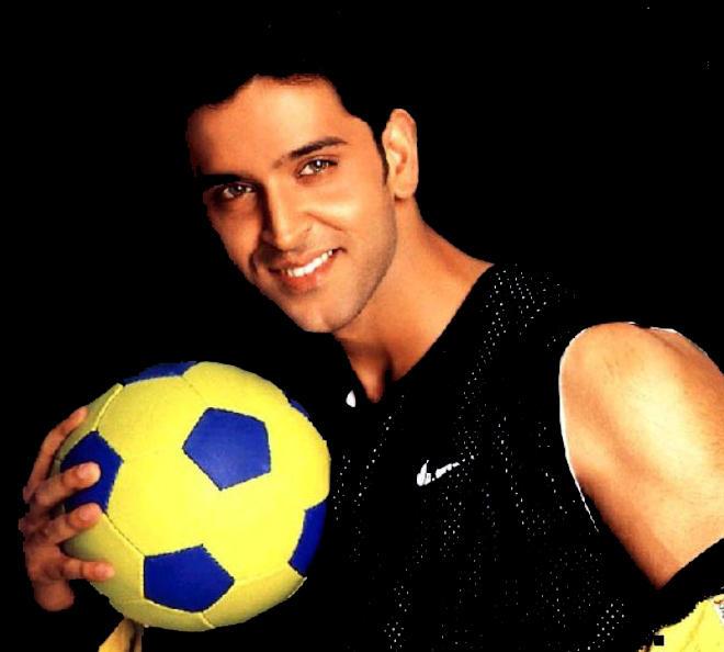 Hrithik Roshan with football