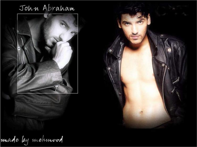 John Abraham wallpaper posing sexy in jacket
