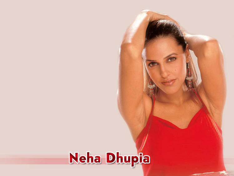 Neha Dhupia red hot wallpaper