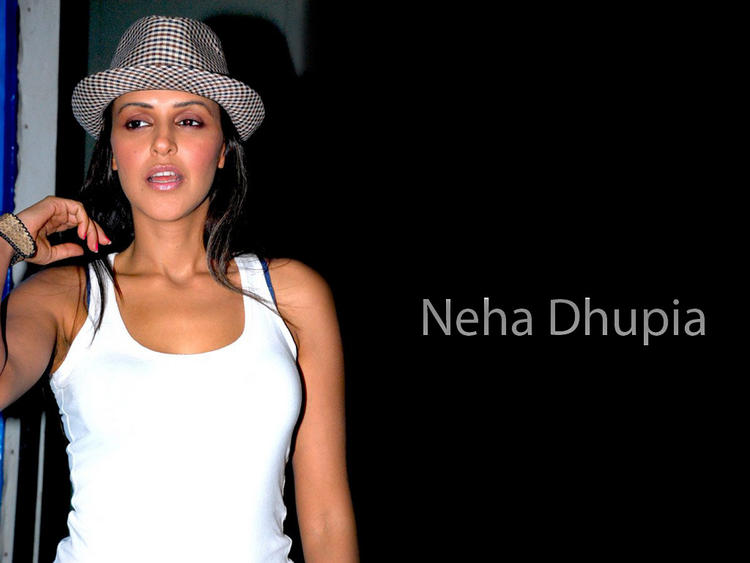 Neha Dhupia hot wearing hat