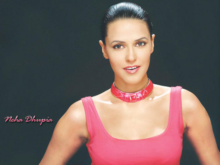 Neha Dhupia pink hot wallpaper