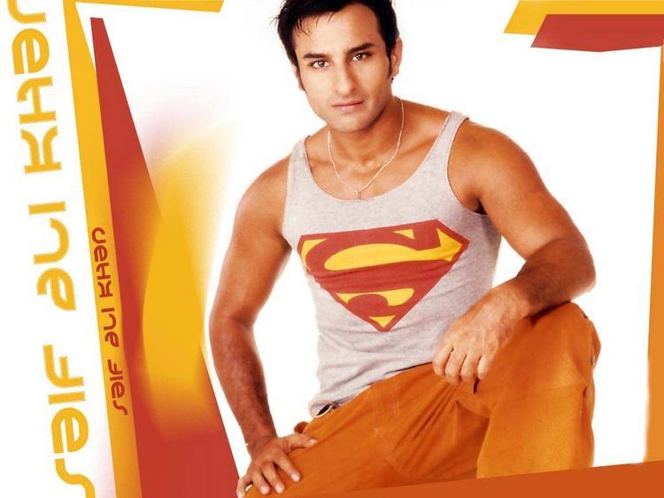 Saif Ali Khan cute hot wallpaper