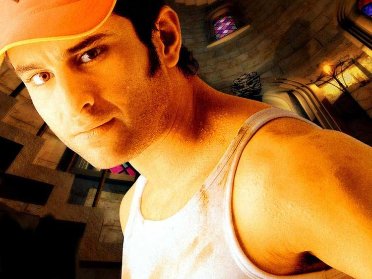 Saif Ali Khan posing hot wearing hat