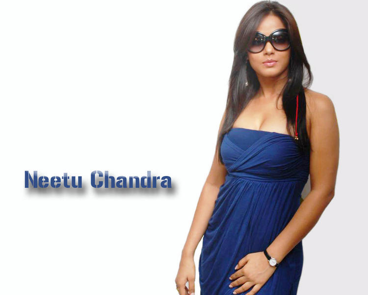 Neetu Chandra blue tight skirt wallpaper