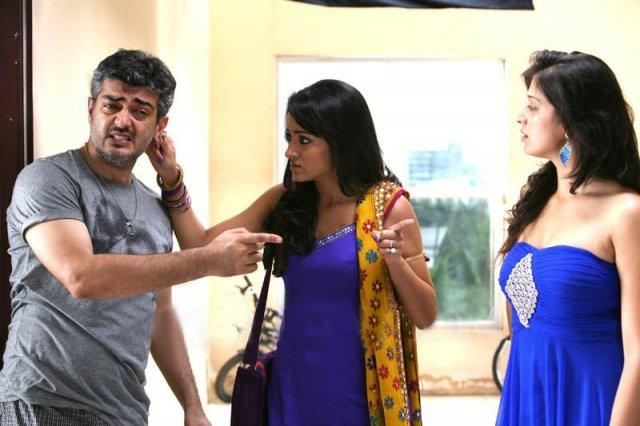Ajith,Lakshmi Rai,Trisha in Mankatha movie stills