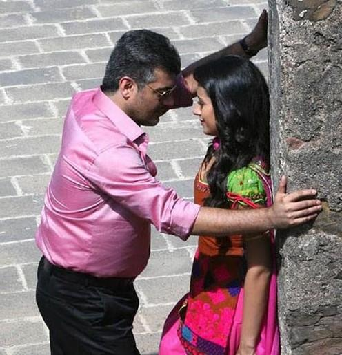 Trisha and Ajith Romantic pics in Mankatha