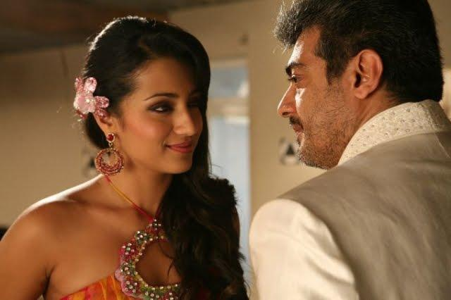 Trisha and Ajith in Mankatha