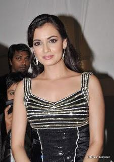 Dia mirza looking sexy and hot in black color dress