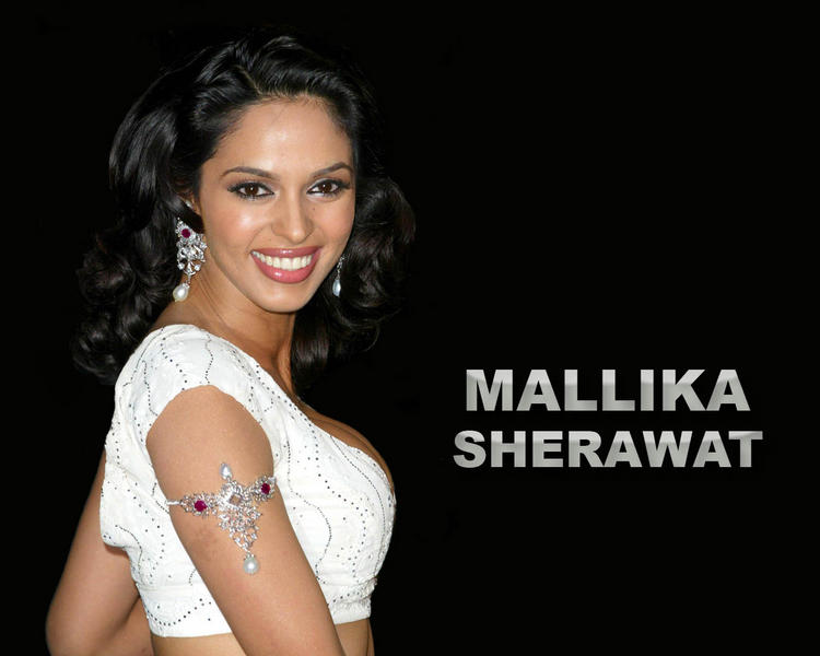 Mallika Sherawat  with beautiful smile