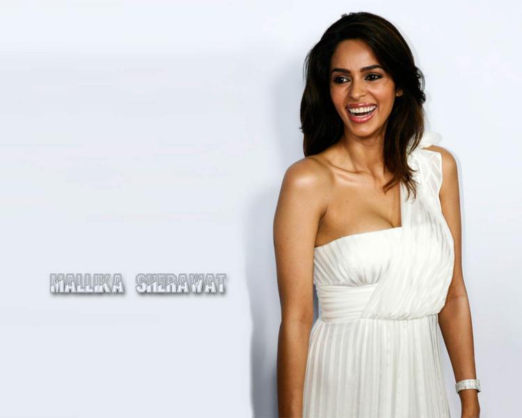 Mallika Sherawat with open smile wallpaper